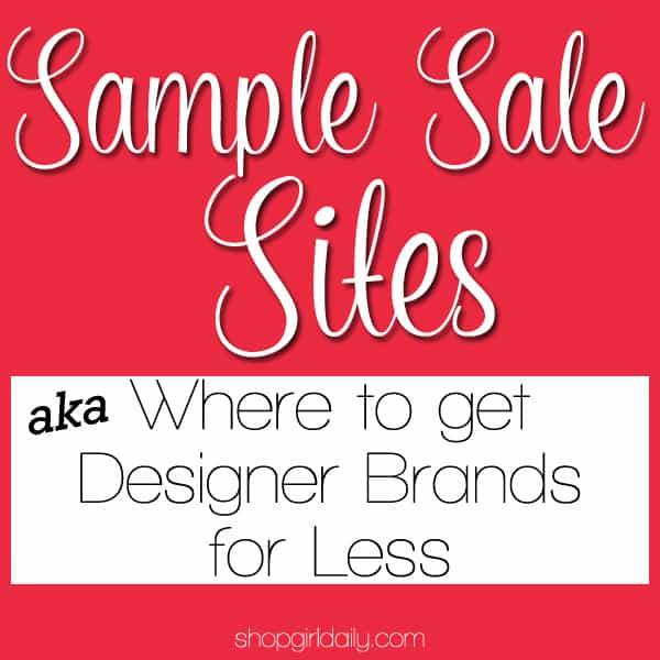 Sample Sale Sites