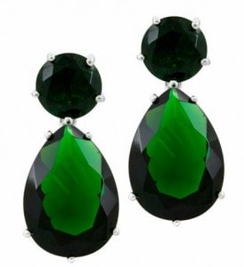 ab7893680 Steal Angelina Jolie's Emerald Drop Earrings - Fantabulously Frugal