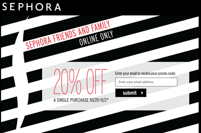 Sephora Friends & Family Sale 2011