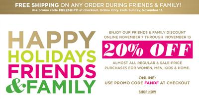 Bloomingdales Friends & Family Sale November 2011