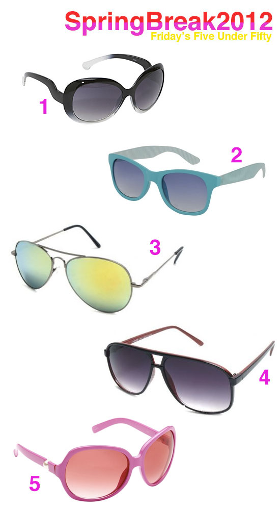 26a0781d57e5 Friday s Five Under Fifty  Spring Break Sunglasses - Shop Girl Daily