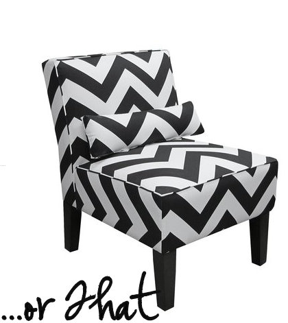 Cool This Or That Black And White Chevron Chair Shop Girl Daily Bralicious Painted Fabric Chair Ideas Braliciousco