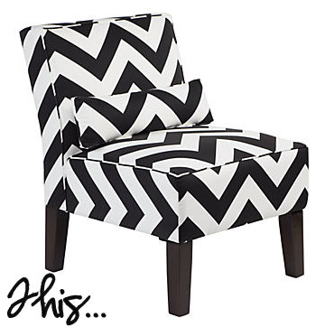 Amazing This Or That Black And White Chevron Chair Shop Girl Daily Bralicious Painted Fabric Chair Ideas Braliciousco
