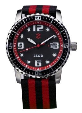 IZOD Men's IZS3/9 RED Sport Quartz 3 Hand Watch