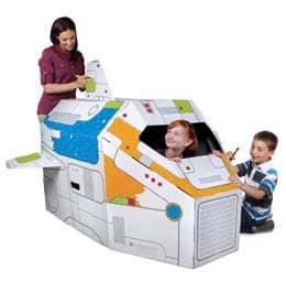 Cardboard Rocket Ship - Gifts for Kids - #ffgiftguide