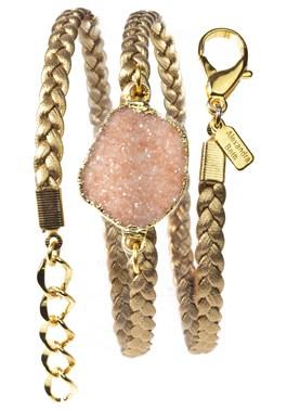 Alexandra Beth Gold Druzy Wrap Bracelet