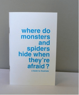 Books to Illustrate: Where do Monsters and Spiders Hide When They're Afraid - Gifts for Kids - #ffgiftguide