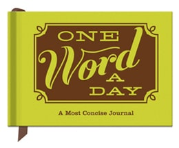One Word a Day Journal - Gifts for Teen Girls