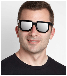 Pixel Frames Sunglasses - gifts for teen boys
