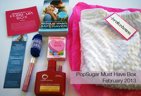 PopSugar Must Have Box Review - February 2013