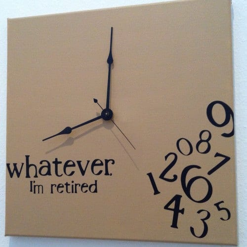 Jennimo etsy shop for Whatever clock diy