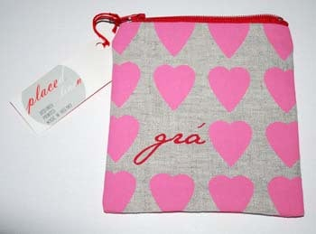 """""""Gra"""" Pink Heart Coin Pouch from Placed"""
