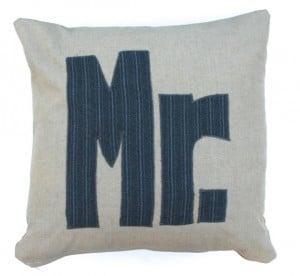 mr. throw pillow