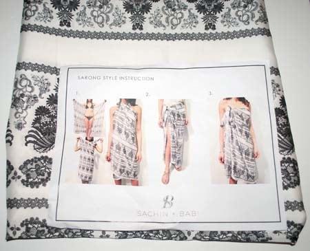 Sachin + Babi Baroque Print Foulard Sarong