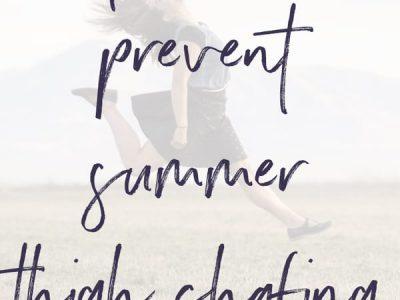How To Prevent Summer Thigh Chafing | ShopGirlDaily.com