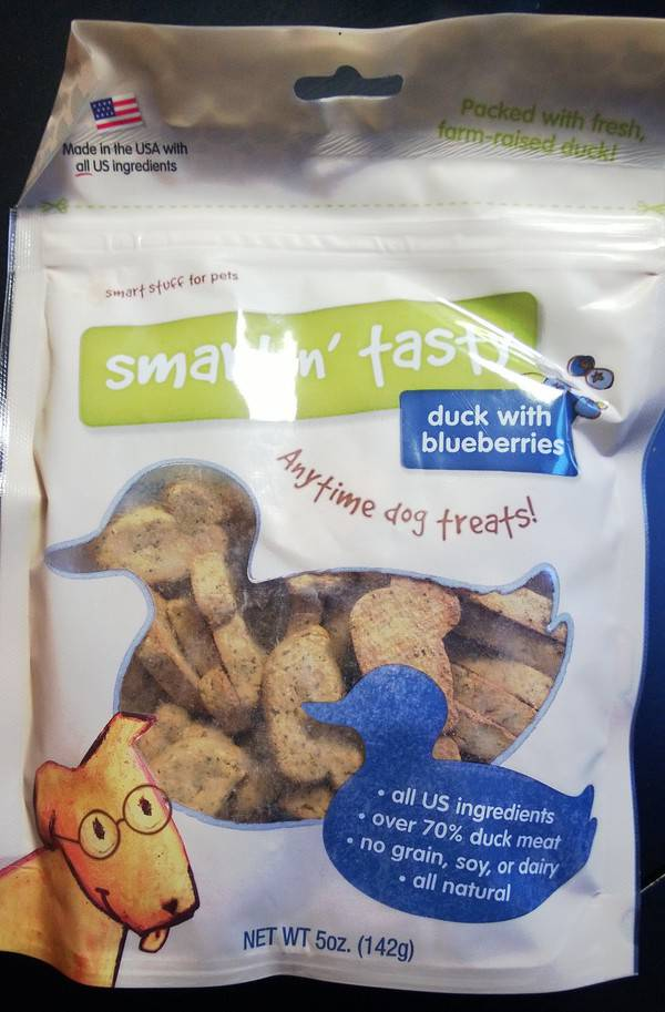 Emerald Canine Duck Treats with Blueberry