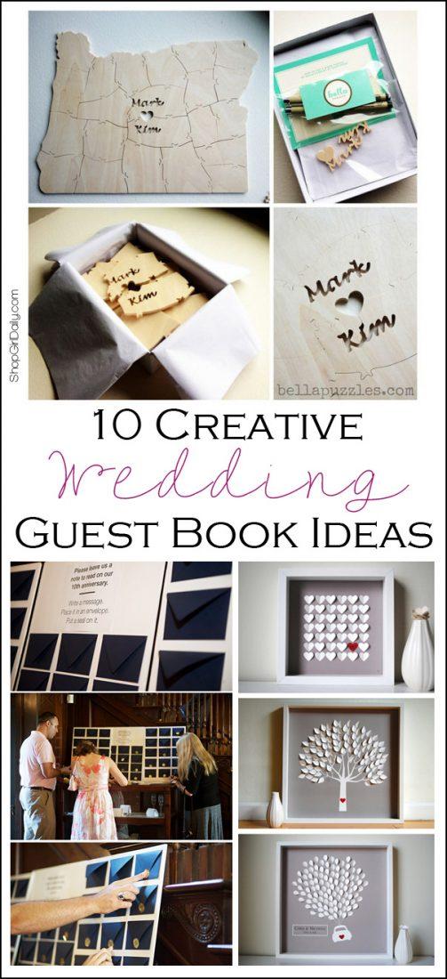 10 Creative Wedding Guest Book Ideas | ShopGirlDaily.com