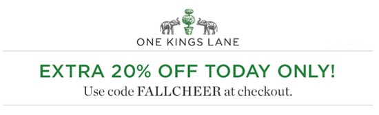 Discount coupon one kings lane