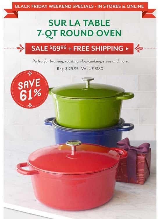 180 7 qt round oven is at sur la table shop for Sur la table 6 quart