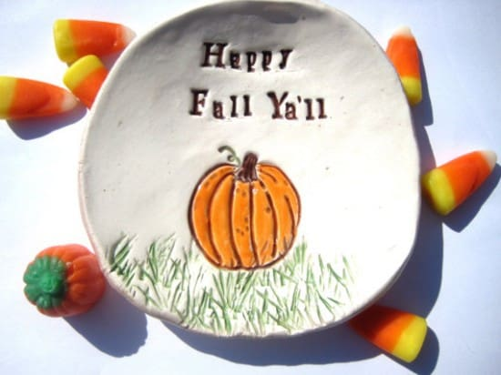 happy fall plate