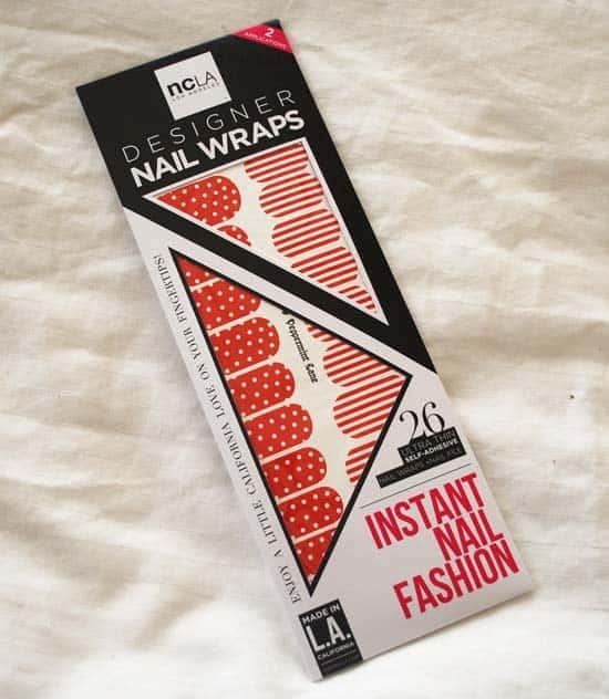 NCLA Peppermint Lane Nail Wraps