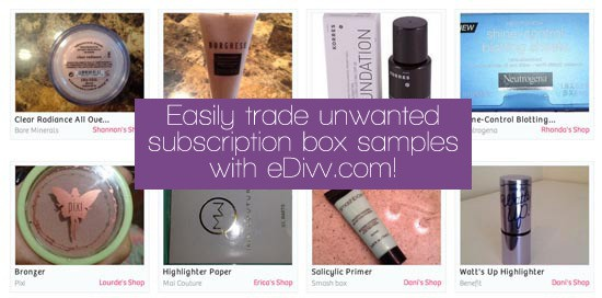 eDivv: Easily trade unwanted subscription box samples