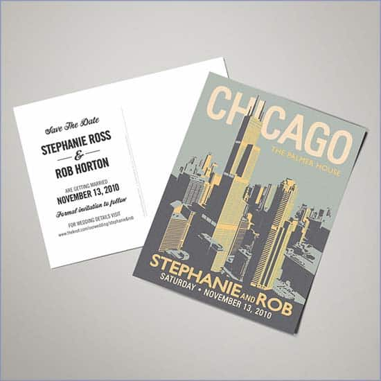 wedding wednesday 10 chicago save the date cards shop girl daily