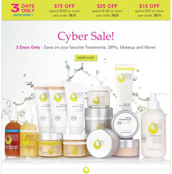 Juice Beauty Sale