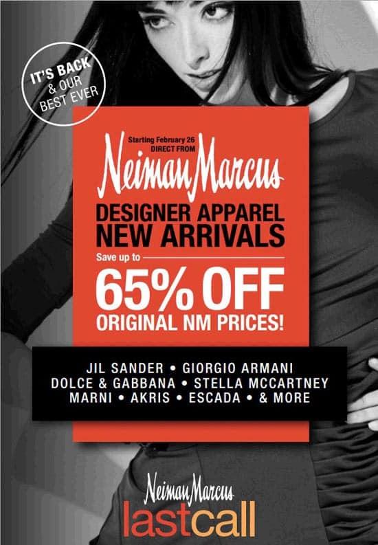 Neiman Marcus Designer Apparel Sale