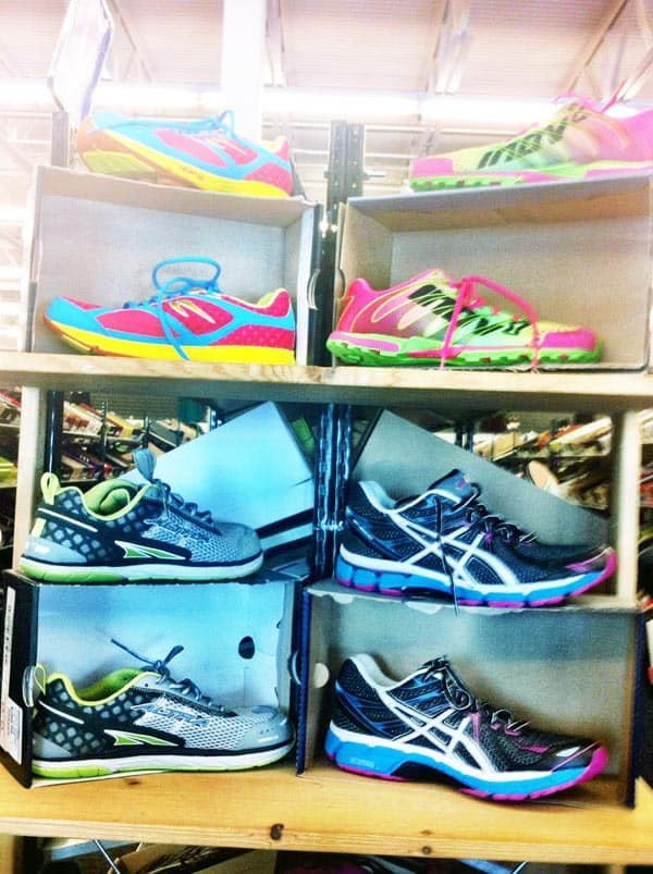Running shoes at the 6pm.com outlet