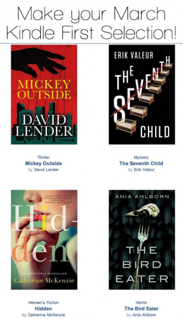Amazon Prime Members: Make Your March Kindle First Selection