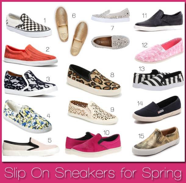Spring's Biggest Trend: Slip On Sneakers