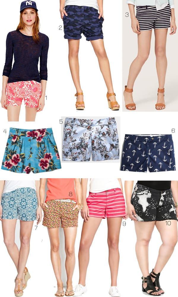 Colorful Shorts for summer under $50