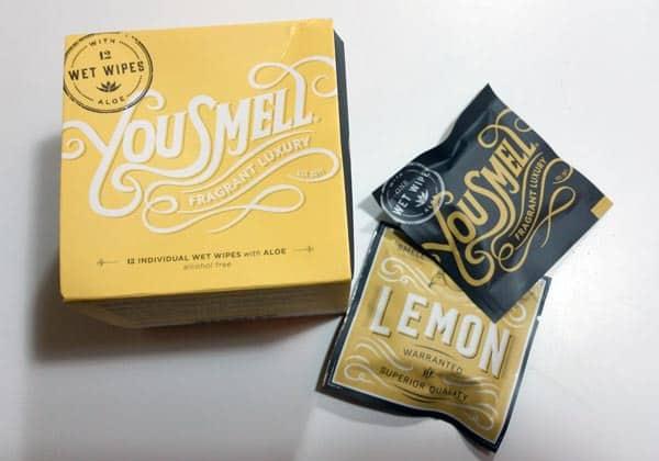 You Smell Lemon Wet Wipes