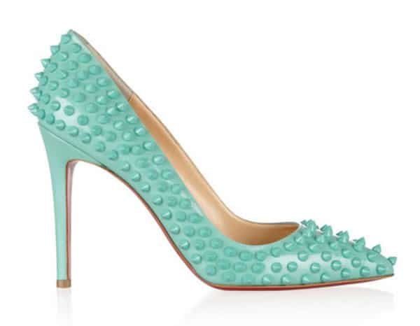 10 pairs of tiffany blue wedding shoes shop girl daily tiffany blue christian louboutin pigalle spikes junglespirit Images