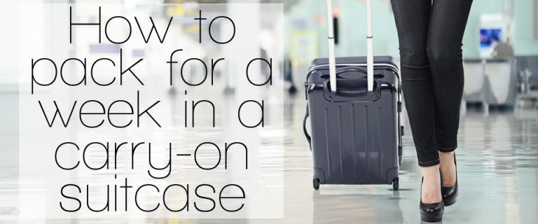 How to pack for a week in a carry-on suitcase | ShopGirlDaily.com