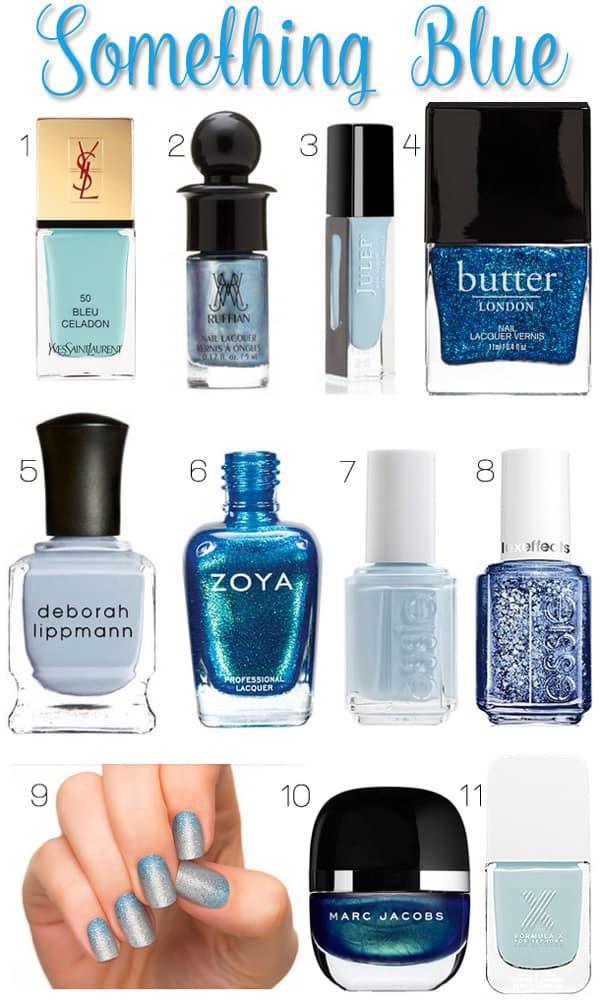 Something Blue: Blue Wedding Nail Polish