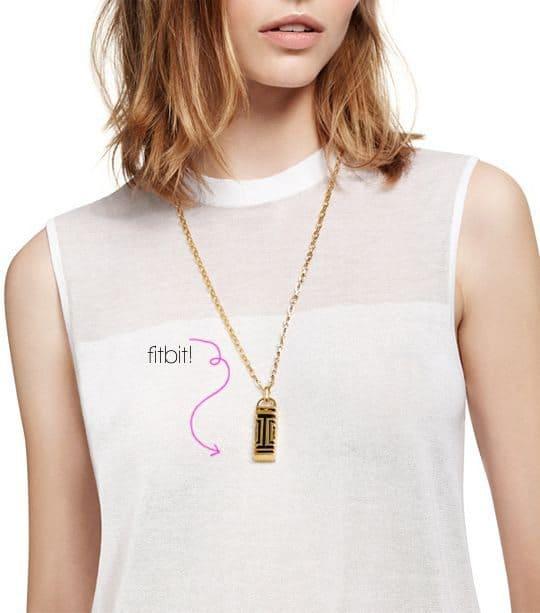 Tory Burch Fitbit Fret Pendant Necklace