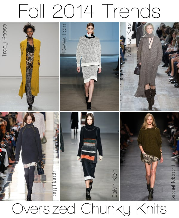 Fall 2014 Trends: Oversized Chunky Knits