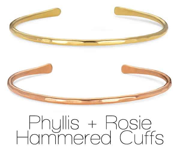 Phyllis + Rosie Hammered Cuffs