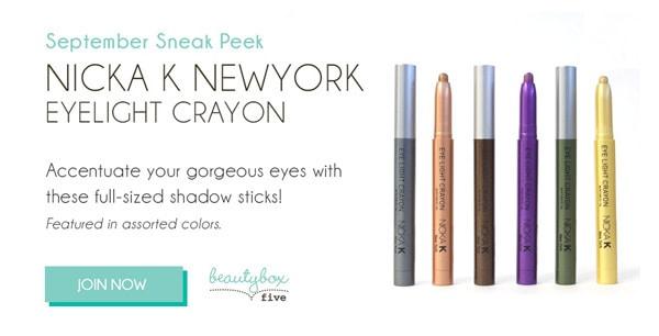 Beauty Box 5 September Sneak Peek: Nicka K Eyelight Crayon