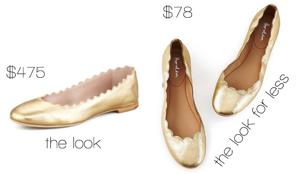 The Look for Less: Chloe Scalloped Ballet Flats