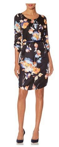 The Limited Belted Floral Dress