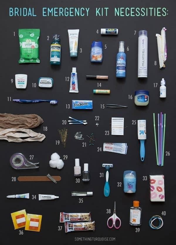 Bridal Emergency Kit Necessities