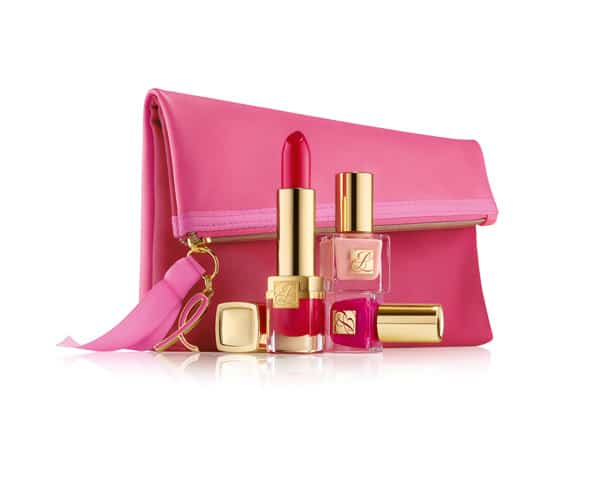 Evelyn Lauder and Elizabeth Hurley Dream Pink Collection