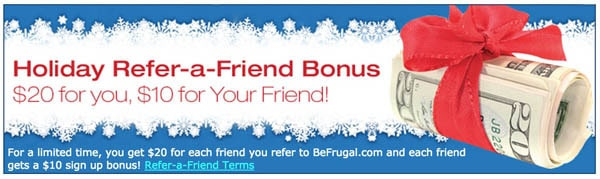 BeFrugal Refer-a-Friend