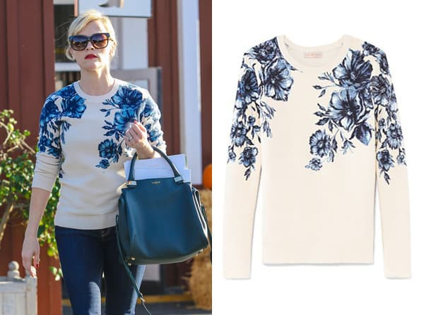 Steal this Look: Reese Witherspoon's Floral Sweater