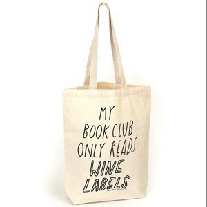 My Book Club Only Reads Wine Labels Bag