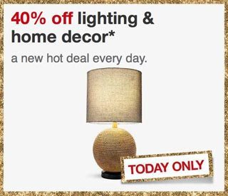 Target One Day Sale 40 Off Lighting And Home Decor Shop Girl Daily