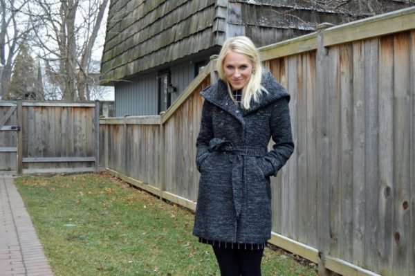 Stitch Fix Review: Belted Cowl Coat